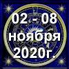 Гороскоп азарта на неделю - с 02 по 08 ноября 2020г